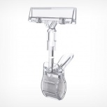 Ценникодержатель на прищепке большой , цвет прозрачный, clamp-dbl 100, Челябинск