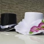 Свадебные шляпы (черная и белая) на Ваше авто (прокат), Челябинск