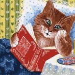 Набор для раскрашивания: Котик с книжкой  Размер: 30х40 см, Челябинск