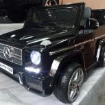Детский электромобиль mercedes-benz g65 лицензия Black, Челябинск