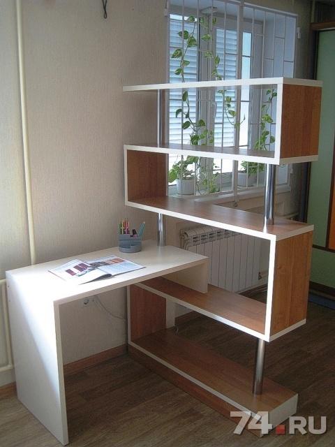 письменный угловой стол с полками новый
