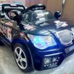 Детский электромобиль BMW с пультом д/у (чёрный), Челябинск