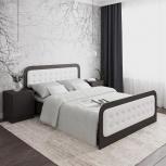 Новая двуспальная кровать №41 с мягкими накладками, Челябинск