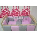 Комплект в детскую кроватку Зверята 17 предметов, Челябинск