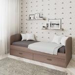 Новая односпальная кровать №53 с ящиками, Челябинск