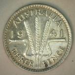Австралия 3 монеты по 3 пенса 1941,42. 43г, Челябинск