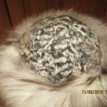 Продам женскую меховую шапку (песец/каракуль), Челябинск