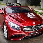 Детский электромобиль mercedes-benz s63 amg coupe красный, Челябинск