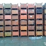 Тара, контейнеры, ящики, металлическая, деревянная, складская б/у, Челябинск