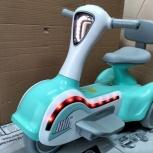 Детский электромобиль. Мотоцикл зеленый Космо, Челябинск