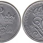 Монеты Швеции, 5 эре 1944 года, Челябинск