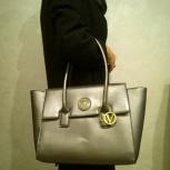 Большая сумка JOAN VASS NEY YORK новая, цвет серый серебристый, Челябинск