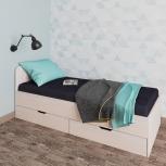 Новая односпальная кровать №77 с ящиками, Челябинск