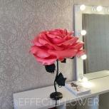 Роза - светильник коралловая на чёрной ножке, Челябинск