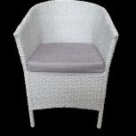 Кресло белое новое облегченное, Челябинск
