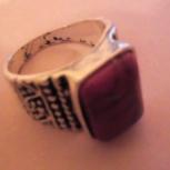 Кольцо с красным камнем бижутерия, Челябинск