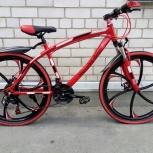 Велосипед горный Mercedes-Benz на дисках, 24 скорости Красный, Челябинск
