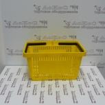 Корзина пластиковая 20л, цвет - желтый, 2 ручки, Челябинск