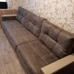Продаю диван с оттоманткой. Большой 3 метра. Экокожа., Челябинск