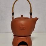 Чайник глиняный forsman с подогревом от свечи, Челябинск