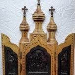 Складень Триптих Резной Ручная работа Дерево XX век, Челябинск
