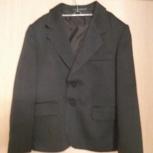 Пиджак серый в полоску 8-10 лет, Челябинск