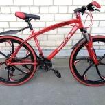 Велосипед горный BMW на дисках 24 скорости Красный, Челябинск