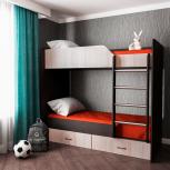 Новая кровать №17 - двухъярусная с ящиками, Челябинск