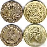 Монеты Великобритании разных лет, Челябинск