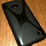 Чехол-накладка Microsoft Lumia 640 пластиковый черный., Челябинск