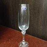 Набор бокалов шампань стекло BOHEMIA Crystal (Чехия), Челябинск
