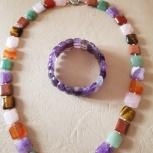 Ожерелье из камней,браслет, Челябинск