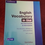 Учебник English Vocabulary in Use Pre-intermediate@Intermadiate, Челябинск
