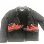 Куртка кожанная утепленная+новая обувь, Челябинск