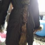 Куртка  удлиненная с мехом енота, Челябинск