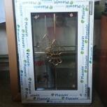 Окно в ламинации с декоративным элементом, Челябинск