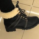Ботинки зимние жен. черные, Челябинск