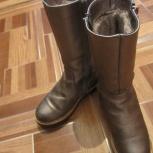 Сапожки зимние для девочки 33 р. натуральная кожа/мутон, Челябинск