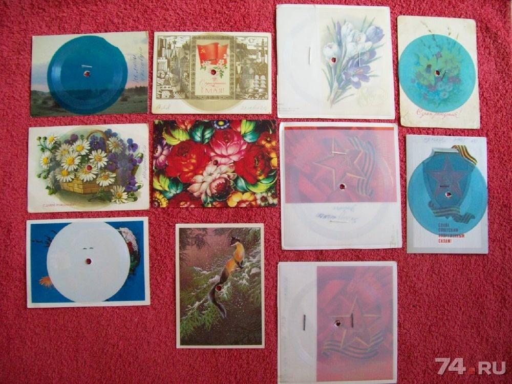Музыкальная открытка пластинка