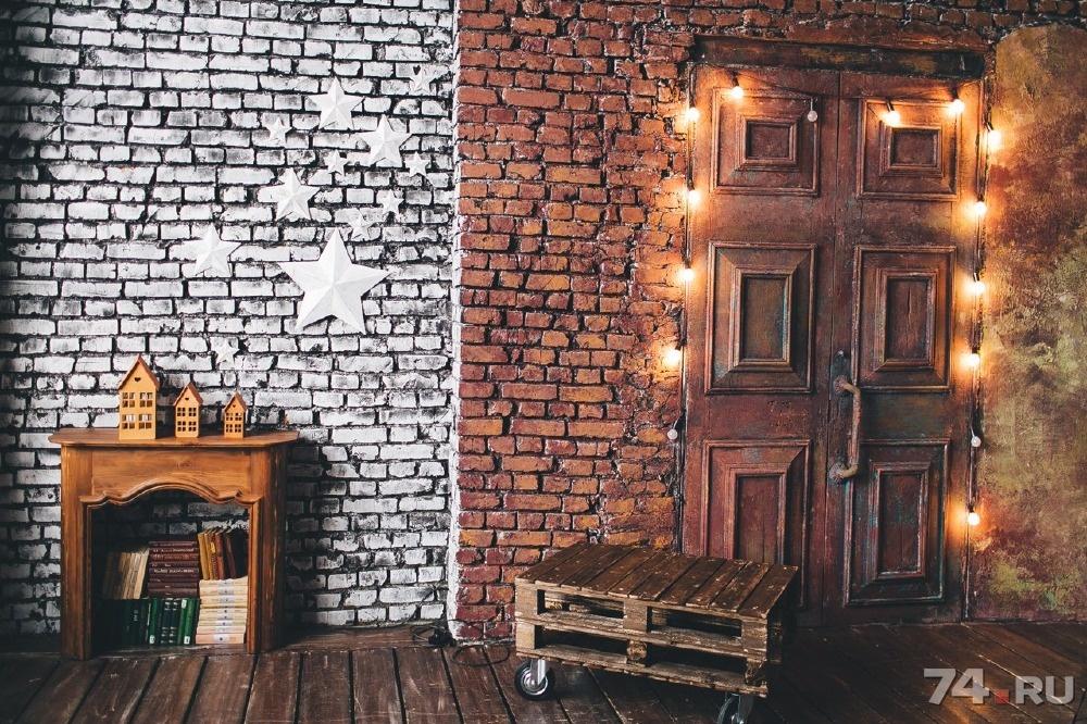 кирпичная стена в фотостудии фото