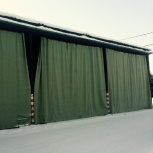 Штора брезентовая в гараж, в цех, Челябинск